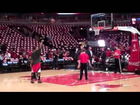 Chicago Bulls Derrick Rose Final Pregame Warmup 2012-2013 NBA Season Part 2