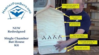 Single Chamber Bat House Kit - Introduction
