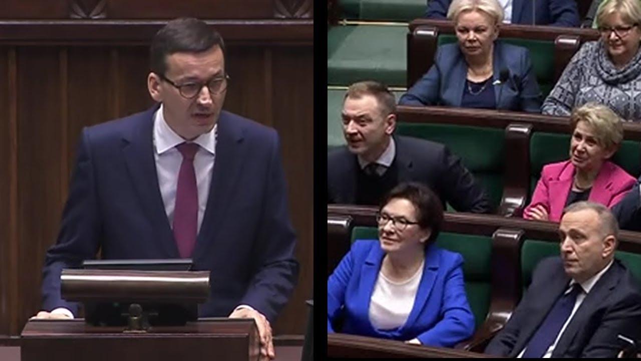 Po exposé Premier Morawiecki konecrtowo zgasił targowiczan z opozycji totalnej nt. donoszenia