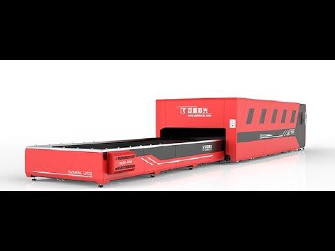 F6020HDE 6000W 5mm stainless. Baisheng Laser corte de INOX . Máquina Industria de corte Laser Fibra