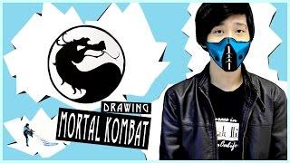 Mortal Kombat X - Назад в прошлое! | Как нарисовать ЛОГО | DA(На самом деле, в моём детстве у нас не было возможности иметь игры Сони да и саму