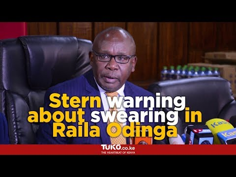 Swearing in of Raila Odinga is a huge mistake, the Attorney General warns