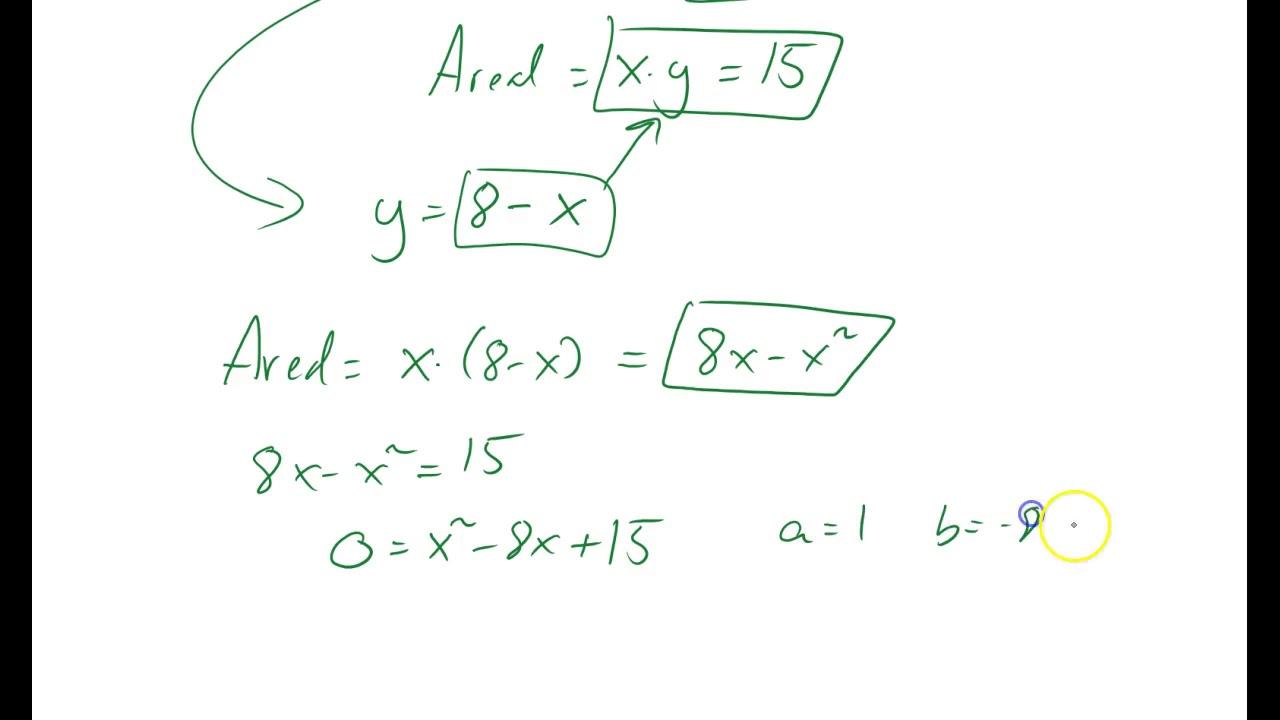 Omkrets og areal - finne siden i rektangel