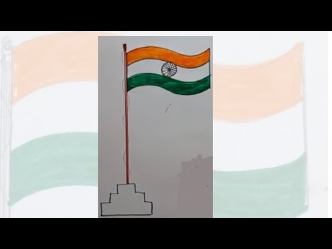 How to draw Indian flag step by step independence day