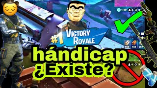 Hándicap en fortnite😡 ¿existe? ~ comparación una partida perfecta vs una partida simple ~ victoria