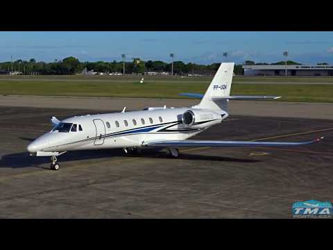 [SBFZ/ FOR] Decolagem RWY13 Cessna 680 Citation Sovereign PP-UQN 18/06/2017
