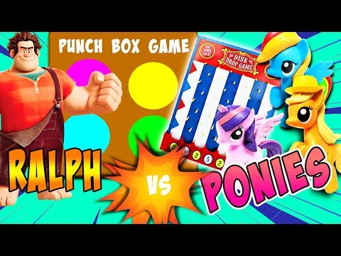 Wreck-It Ralph Vs My Little Pony Disk Drop Punch Out Game! W/ Twilight Sparkle And Vanellope