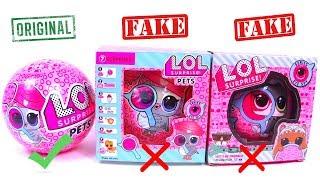 ЛОЛ Оригинал и Подделка! СРАВНЕНИЕ ПИТОМЦЫ серия 4 Обзор игрушек для девочек LoL Pets Surprise 4