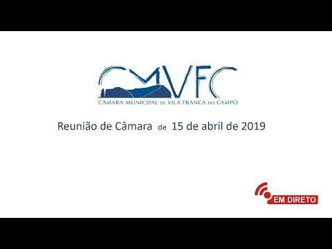 Reunião de Câmara | 15 de abril de 2019