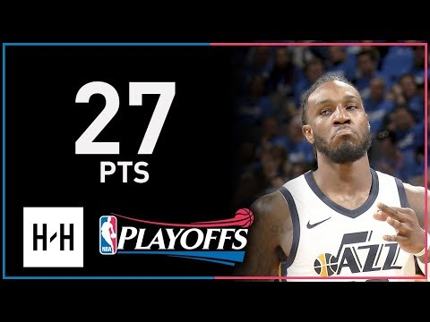 Jae Crowder Full Game 5 Highlights Jazz vs Thunder 2018 NBA Playoffs - 27 Pts!