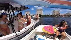 July 4th Fun/Disorder on the boat at Lake Boca Raton