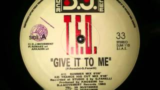 TFO Give It To Me Summer Mix) DJM110 DJ Movement Records