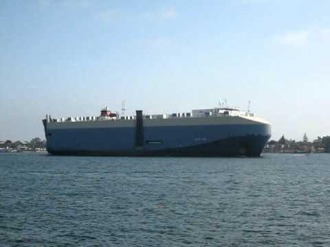 PASHA HAWAII PERSONAL VEHICLE SHIP leaving San Diego