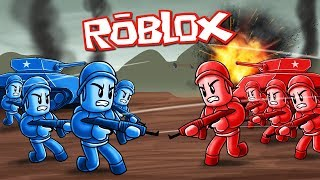 Roblox Movie | Red Army vs Blue Army - Tanks, Helicopters, Soldiers! (Roblox War Game)