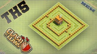 Clash Of Clans Best Town Hall 5 (TH5) Trophy Base Anti Everything -  2018