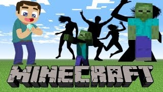 LETS PLAY MINECRAFT Ep #6 ZOMBIE PARTY NEXT DOOR thumbnail