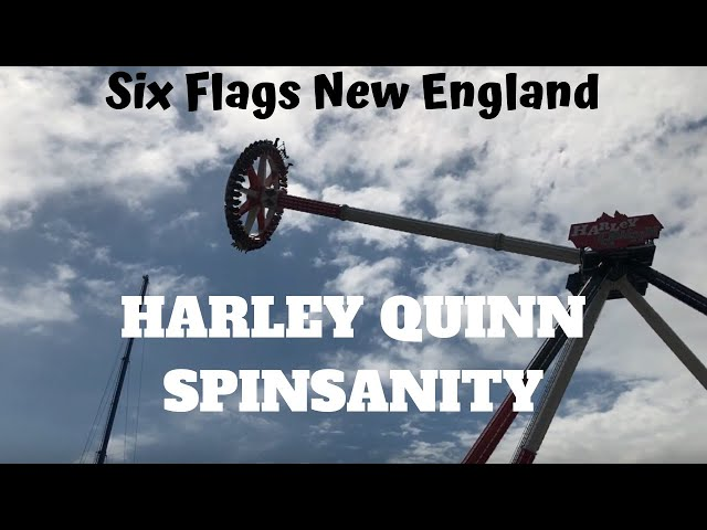 7f7d9cbbf3f8f5 Six Flags New England - Harley Quinn Spinsanity - Full Cycle Off Ride POV -  New for 2018