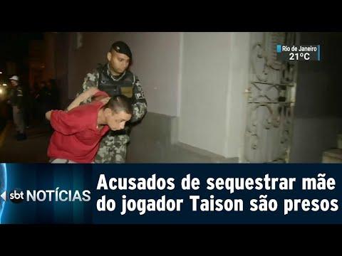 Mãe do jogador Taison, da Seleção, é sequestrada no Rio Grande do Sul | SBT Notícias (17/07/18)