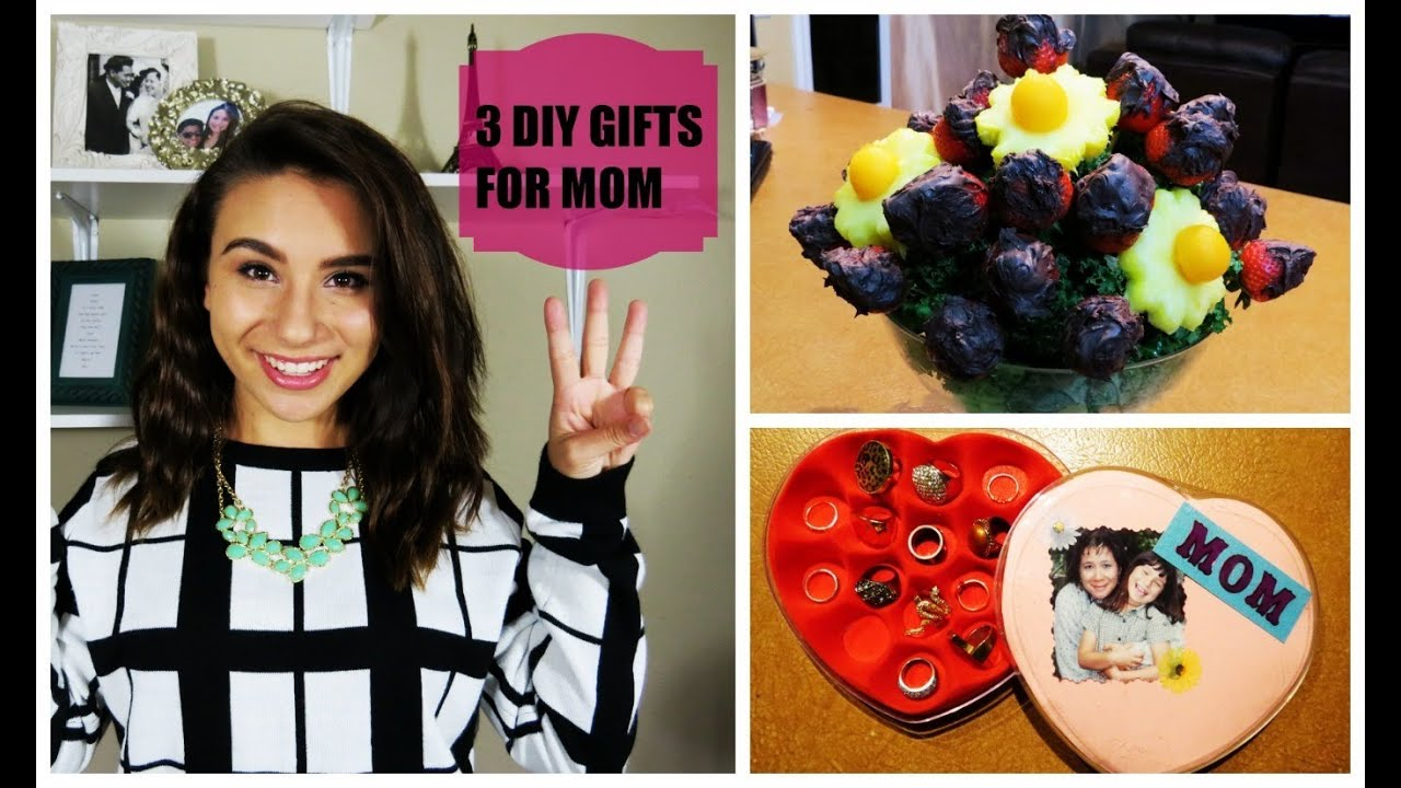3 diy gifts for mom youtube