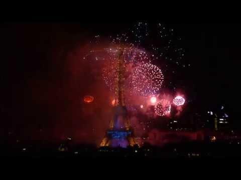 Feu d'artifice complet du 14 Juillet 2014, Tour Eiffel - Trocadero, Paris