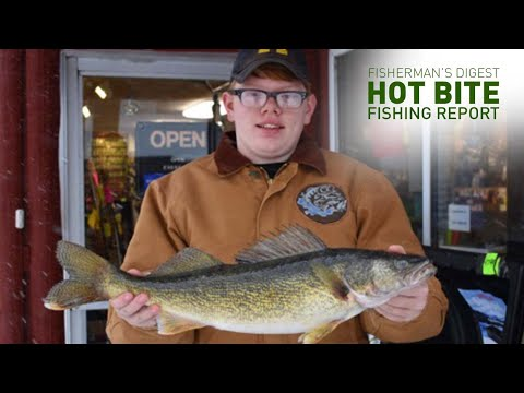 Ice Fishing In Cadillac & More!!! - Hot Bite Fishing Report - Jan 8th