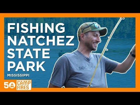 Bass Fishing At Natchez State Park : 50 Campfires