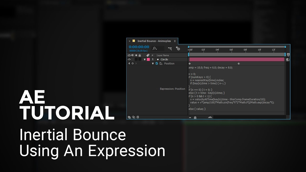 Inertial Bounce Expressions in After Effects