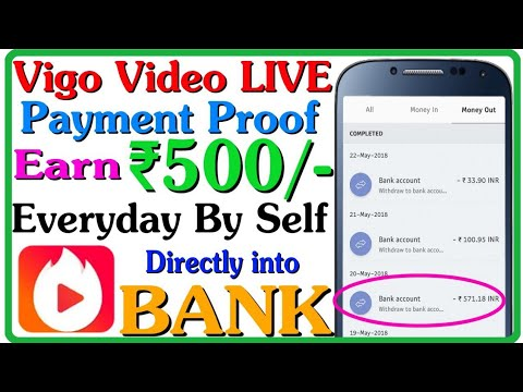 Vigo Video App Live Payment Proof    Earn ₹500/- Everyday By Self    Unlimited Earning Trick For All