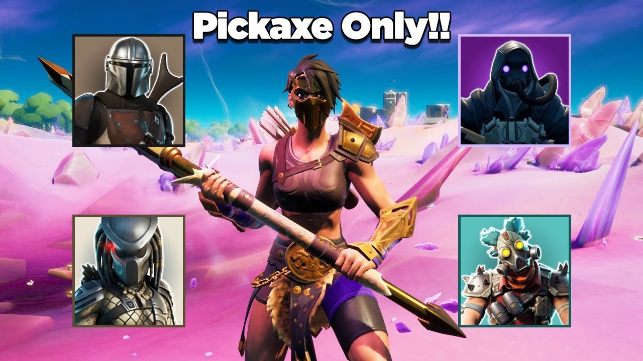 Killing All Mythic Bosses & An IO Guard Using Only A Pickaxe Challenge in Fortnite *IMPOSSIBLE*