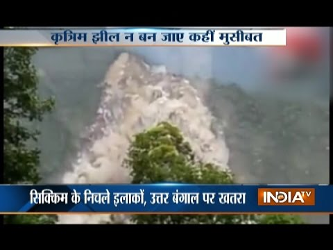 Artificial Lake Develops Due to Landslide in North Sikkim