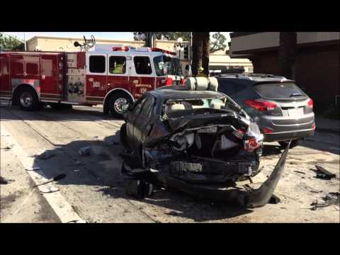 accident on foothill blvd Monrovia 1-13-14