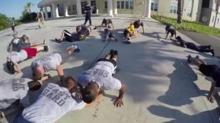 Coast Guard Cutter Dauntless crew members physical fitness test