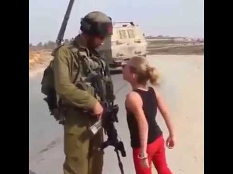 Little Palestinian Girl vs. Israeli Soldier