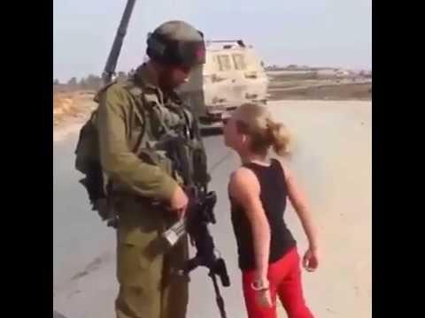 Little Palestinian Girl Vs. Israeli Soldier