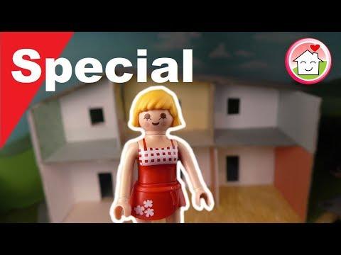 Playmobil deutsch - Pimp my PLAYMOBIL - Haus bauen - Puppenhaus DIY - Basteln mit Familie Hauser