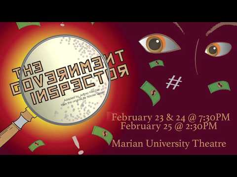 """""""The Government Inspector"""" at Marian University"""