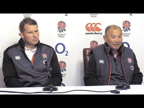 Eddie Jones & Dylan Hartley Pre-Match Press Conference - Italy vs England - Six Nations