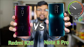 Redmi Note 8 Pro vs Redmi K20 Speed Test Comparison | Mediatek G90T vs Snapdragon 730 🔥🔥