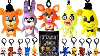 FIVE NIGHTS AT FREDDY'S FULL SET Plush Collector Clips   FNAF Blind Bag Hangers   Foxy Bonnie Chica