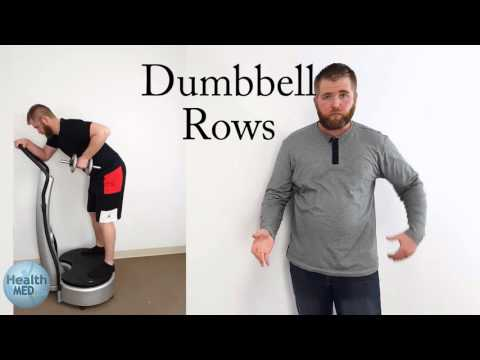 Bicep And Abs Workout Using A Whole Body Vibration Machine And Weights