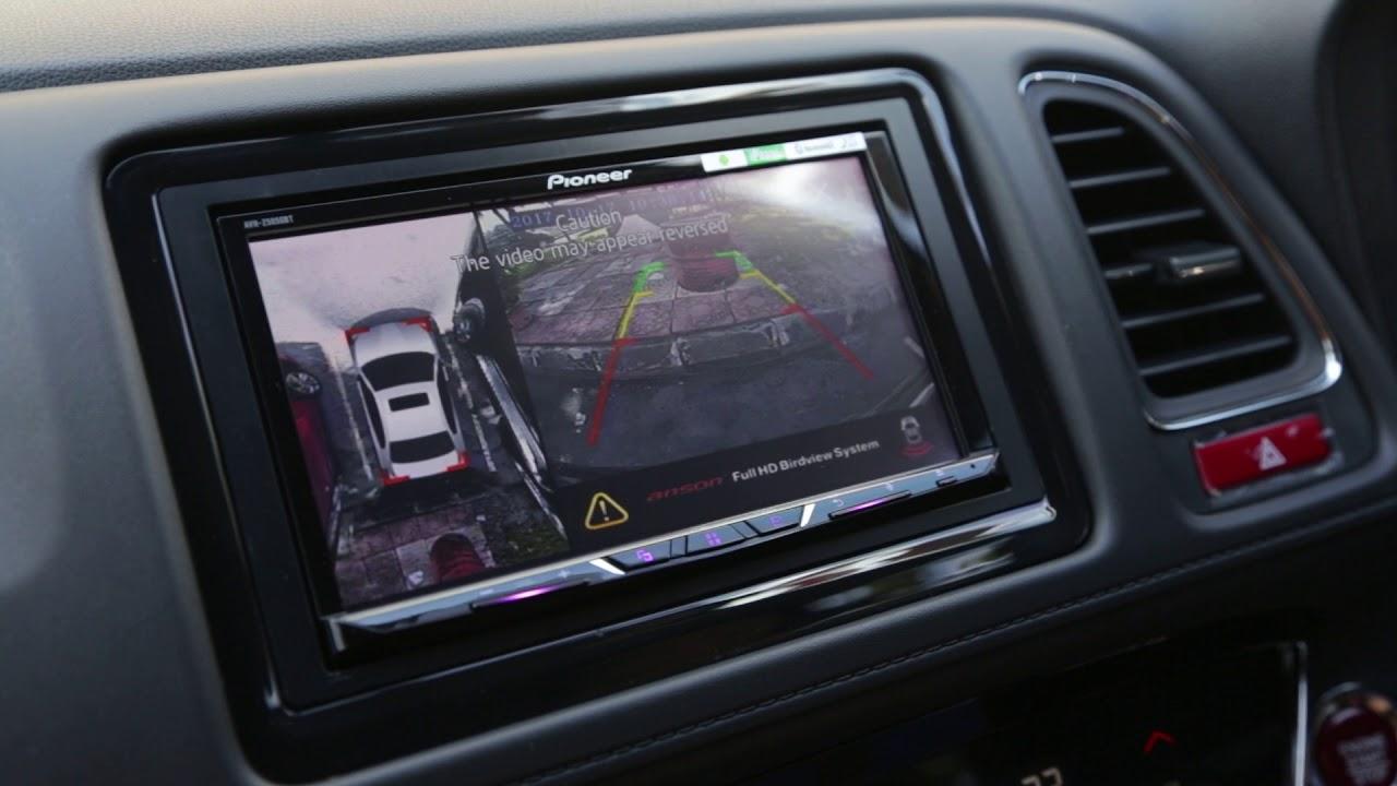 Honda HRV bird view camera + Pioneer headunit - YouTube