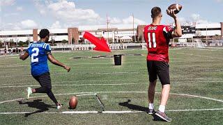 THE KICKER VS. QUARTERBACK CHALLENGE!