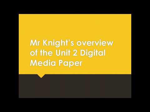 Mr Knight's Digital Media Unit 2 Revision Video