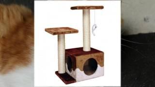 стойки когтеточки для кошек с домиком
