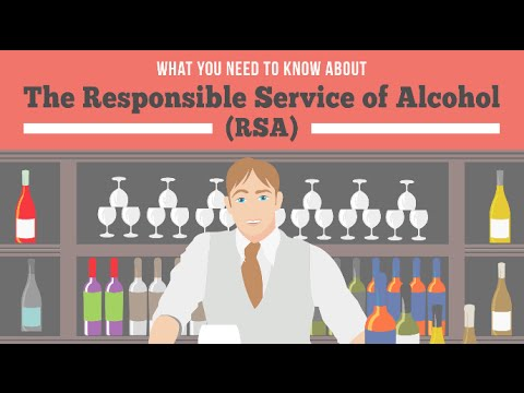 Responsible Service Alcohol (RSA): What Is It?