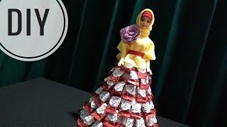IDE KREATIF DIY - Tutorial Barbie Candy Dress   Barbie Gaun Permen