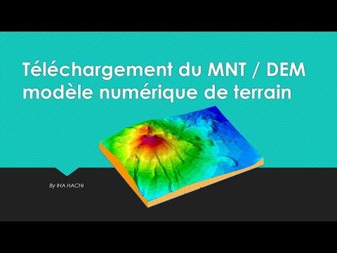Téléchargement du MNT / DEM modèle numérique de terrain