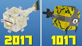 How Minecraft Mobs USED to look