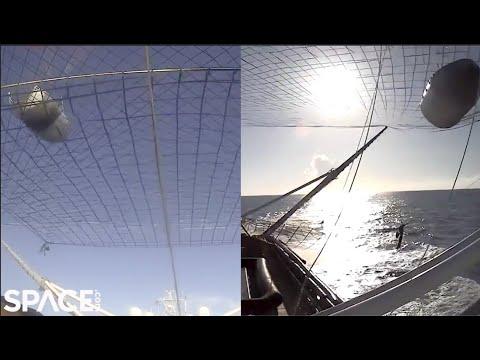SpaceX fångar upp hela noskåpan från en Falcon 9-raket Första gången man fixar det