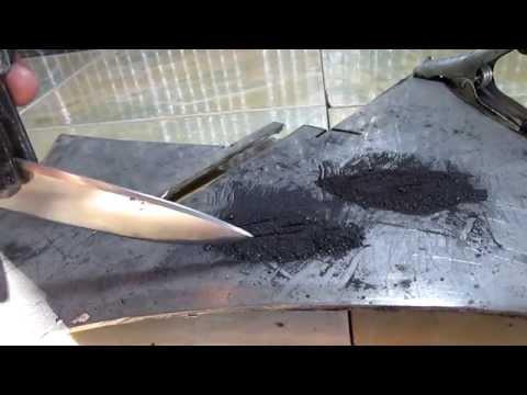 Как закалить нож в домашних условиях графитом